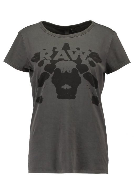GStar ELTOLA STRAIGHT R T S/S Camiseta print black
