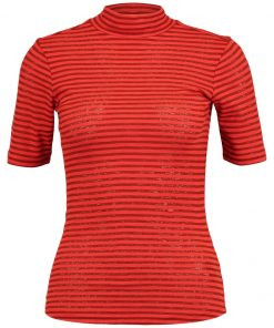 GStar XINVA SLIM FUNNEL T 1/2 SL Camiseta print red pepper/brown brandy