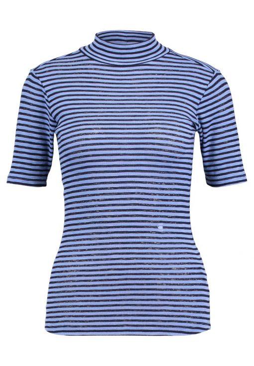 GStar XINVA SLIM FUNNEL T 1/2 SL Camiseta print dark lapo blue/sartho blue stripe