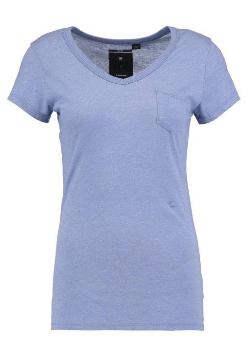 GStar ZIVARIS SLIM V T S/S Camiseta básica dark lapo blue
