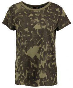 GStar SUNDU KNOTTED AO STRAIGHT RT S/S Camiseta print sage/black