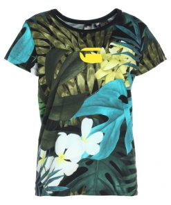 GStar X25 ALOHA PRINT Camiseta print sage ao/black