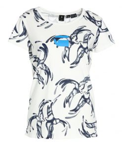 GStar X25 CHINESE WILLOW PRINT Camiseta print milk/sapphire blue ao