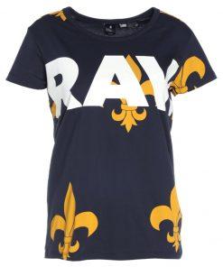 GStar X25 FLEUR DE LYS PRINT Camiseta print indigo/gold ao