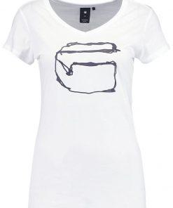 GStar MONTHON SLIM V T S/S Camiseta print white