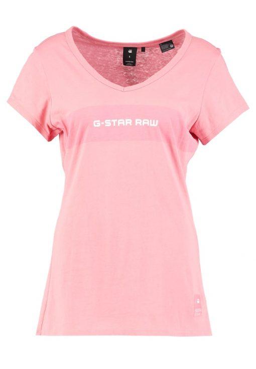 GStar LAJLA SLIM V T S/S Camiseta print cactus pink