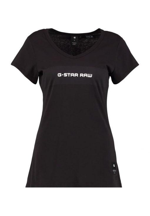 GStar LAJLA SLIM V T S/S Camiseta print dk black