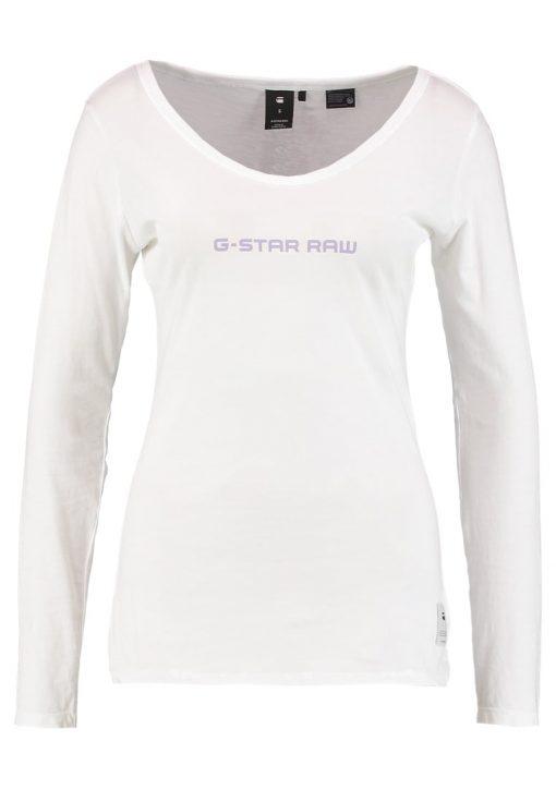 GStar LAJLA GRAPHIC SLIM R T L/S Camiseta manga larga white