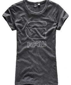 GStar Camiseta print black htr