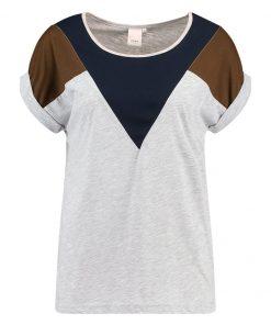 ICHI KASHI Camiseta print light grey melange