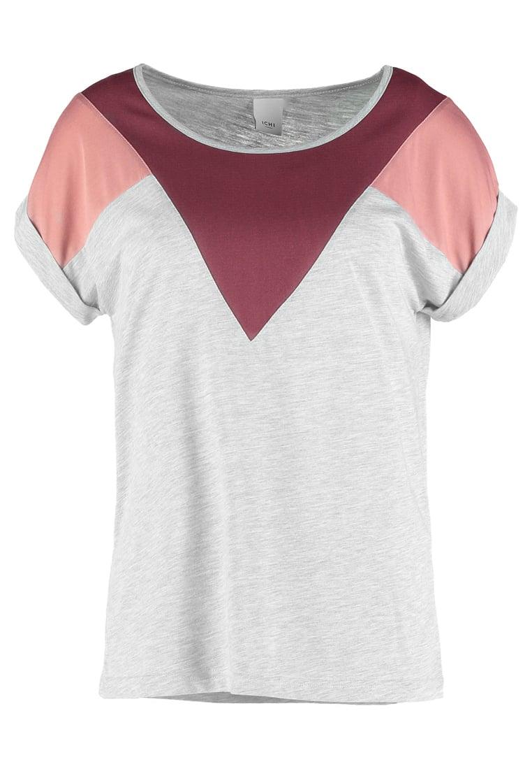 ICHI KASHI Camiseta print oxblood red