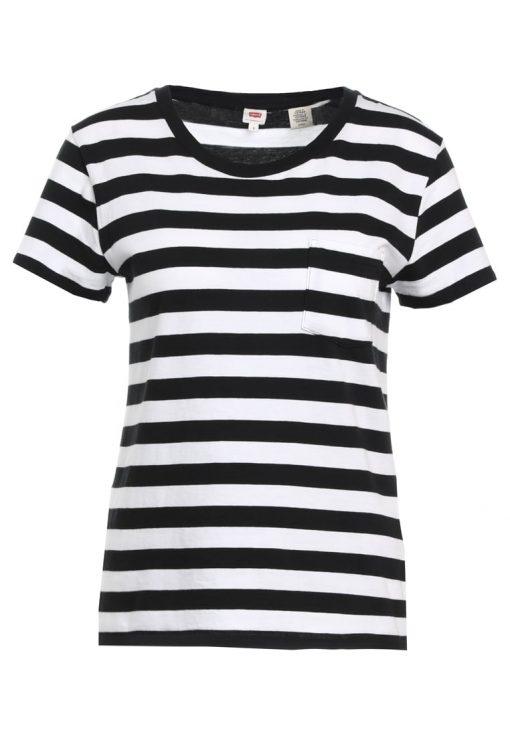 Levi's® THE PERFECT Camiseta print wanderer white/navy blazer