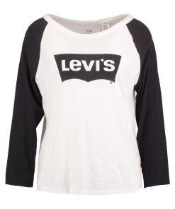 Levi's® THE ROCKER Camiseta manga larga orange/black/marshmallow