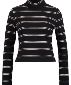 Levi's® TEXTURED MOCKNECK Camiseta manga larga union jet black/oatmeal