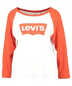 Levi's® ROCKER RAGLAN Camiseta manga larga creme white red orange