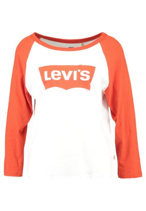 Levi's® ROCKER RAGLAN Camiseta manga larga creme white red orange