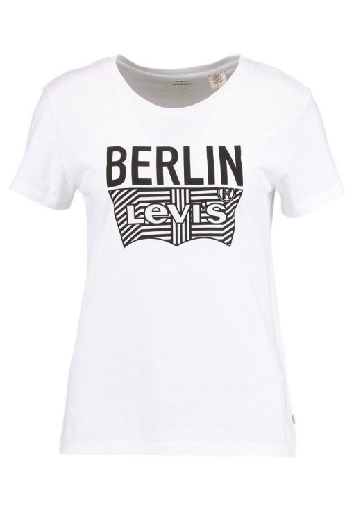 Levi's® BREAD AND BUTTER  Camiseta print white/black