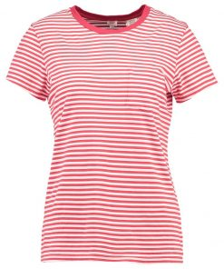 Levi's® THE PERFECT POCKET TEE Camiseta print rot/weiß