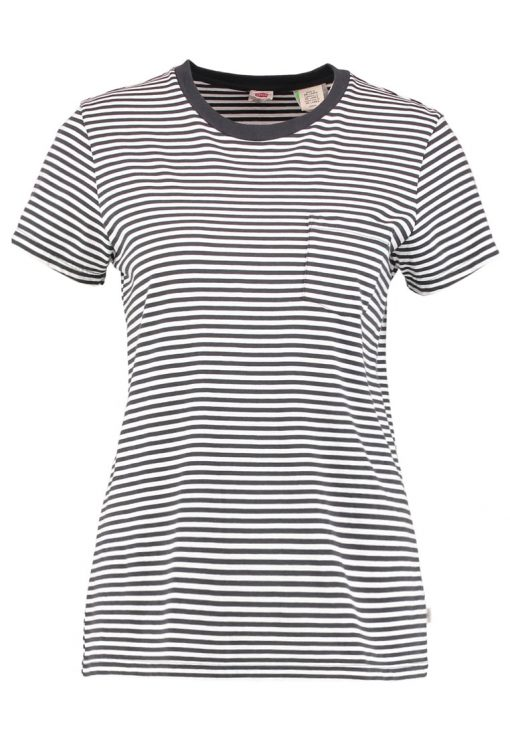 Levi's® THE PERFECT POCKET TEE Camiseta print gina obsidian/cloud dancer
