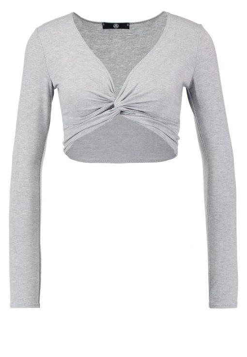 Missguided Camiseta manga larga grey