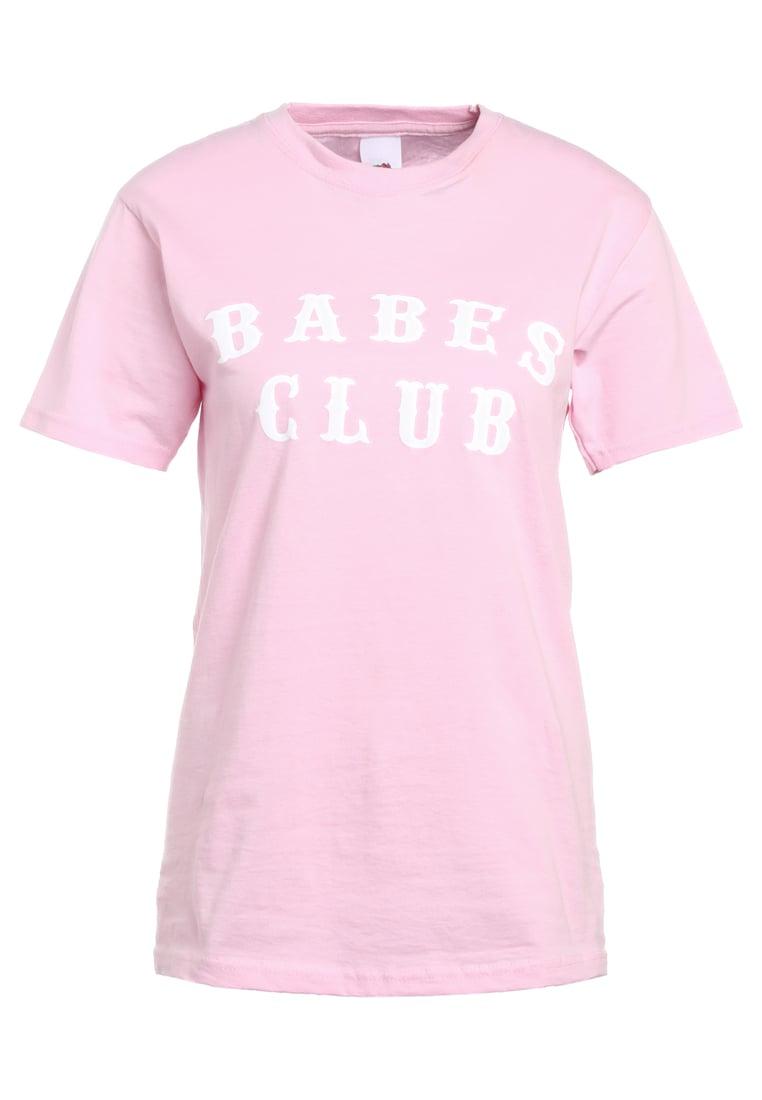 Missguided BABES CLUB  Camiseta print pink