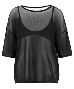 Missguided B&&B MESH OVERSIZE  Camiseta print black