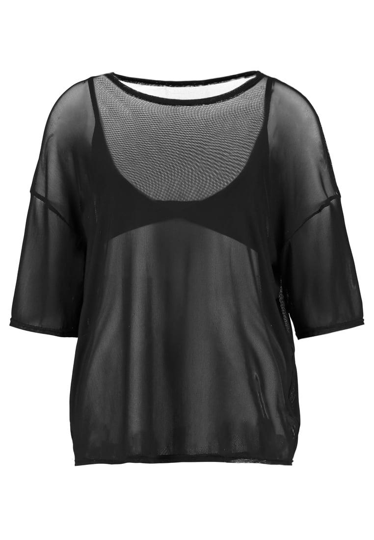 Missguided B&&B MESH OVERSIZE  Camiseta print black