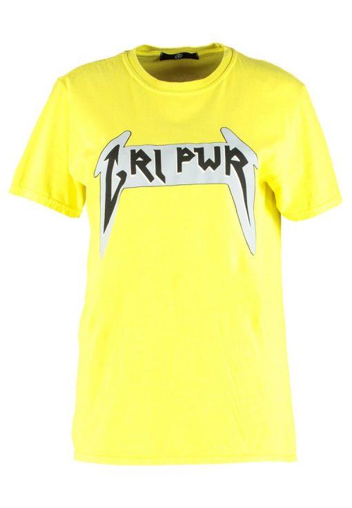 Missguided B&&B WITH SLOGAN Camiseta print yellow