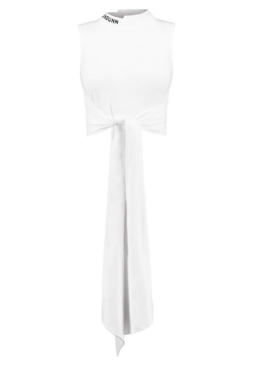 Missguided LONDUNN TIE FRONT CROP Top white