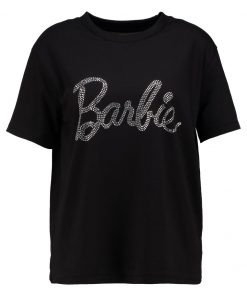 Missguided HOTFIX BARBIE  Camiseta print black