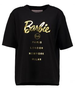 Missguided BARBIE LOGO Camiseta print black