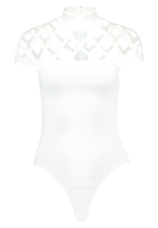 Missguided LASER CUT NECK Camiseta print white