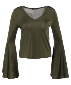 Missguided Camiseta manga larga khaki