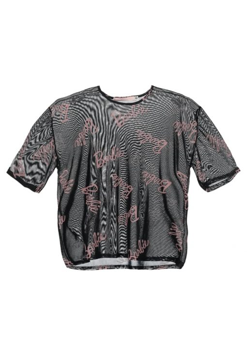 Missguided BARBIE Camiseta print black/pink