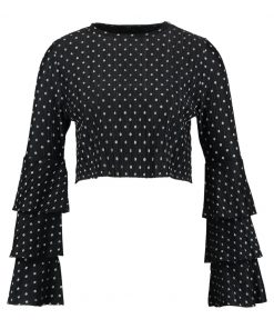 Missguided RARA POLKA DOT  Camiseta manga larga black