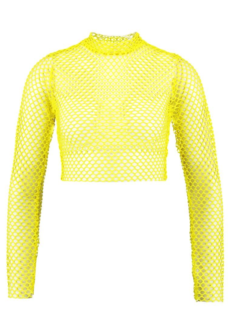 Missguided B&&B FISHNET CROP  Camiseta manga larga yellow