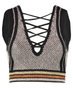 Missguided LACE UP FRONT  Top multi