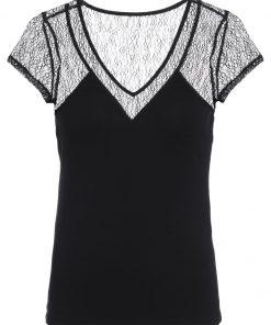 Morgan Camiseta print noir