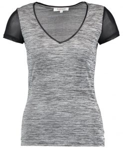 Morgan DYET Camiseta básica gris chine