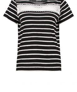NAF NAF PUCE  Camiseta print noir/blanc