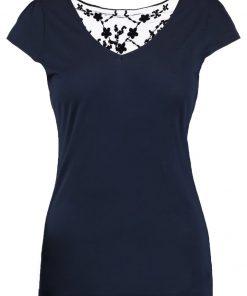 NAF NAF MATIS Camiseta print bleu marine
