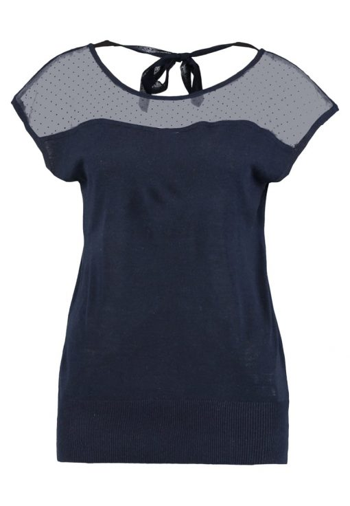 NAF NAF NAMONIE Camiseta print bleu marine