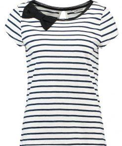 NAF NAF Camiseta print bleu marine ecru