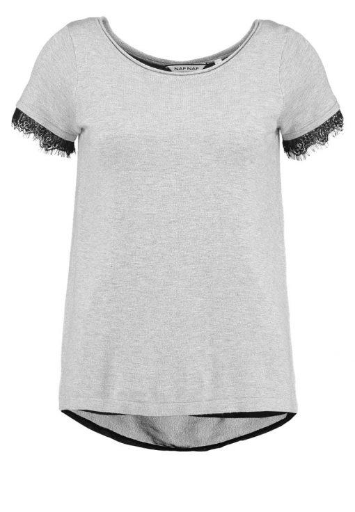NAF NAF MITOUZI  Camiseta básica light gris chine