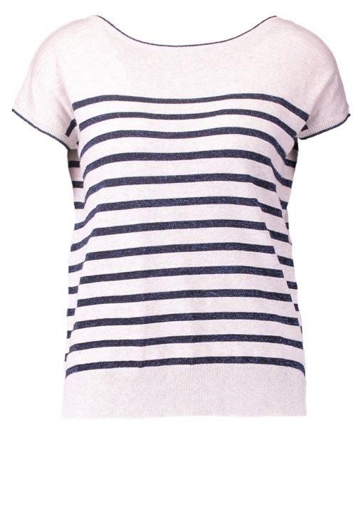 NAF NAF MARINA Camiseta print ecru/marine
