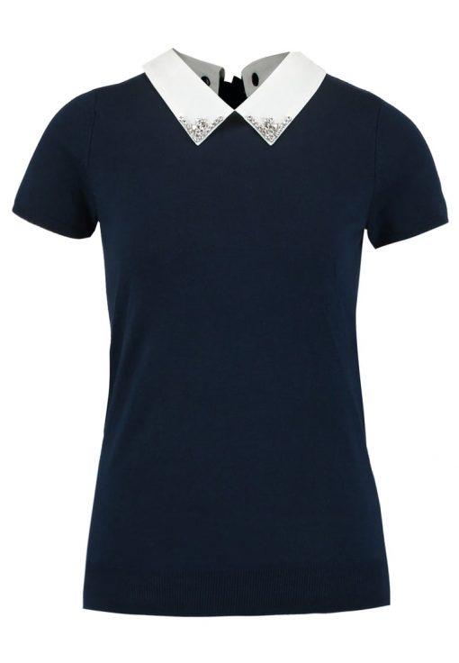 NAF NAF MARJORA Camiseta print bleu marine chi