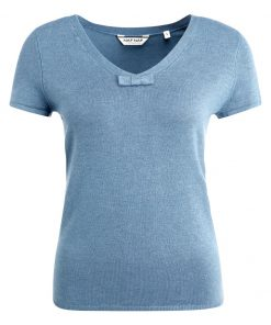 NAF NAF MCOEUR  Camiseta básica bleu glacier chine
