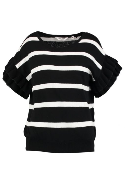 NAF NAF MRAYE Camiseta print noir/blanc