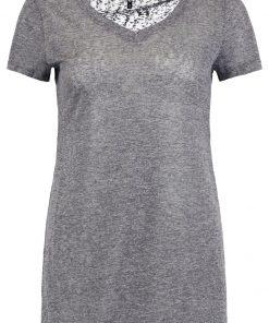 ONLY ONLHANNA Camiseta básica dark grey melange
