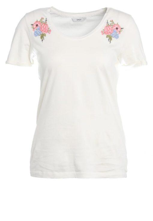 ONLY ONLSOFIE FLOWER  Camiseta print cloud dancer